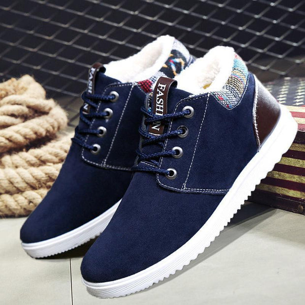 Men's Plus Velvet Cotton Shoes Warm Thick Casual Snow Boots