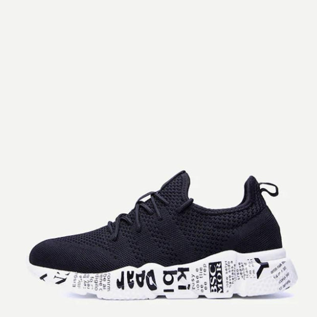 139015 Men Lace-Up Mesh Trainers