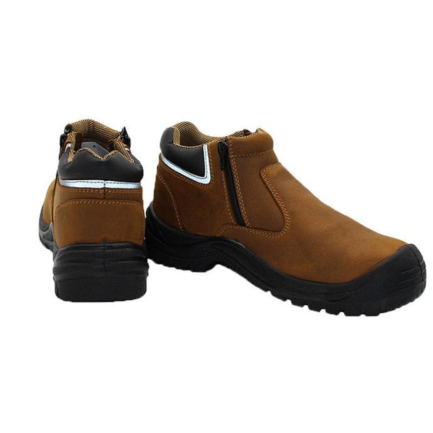 139169 Men's leather breathable steel toe cap anti-smashing anti-piercing work safety shoes