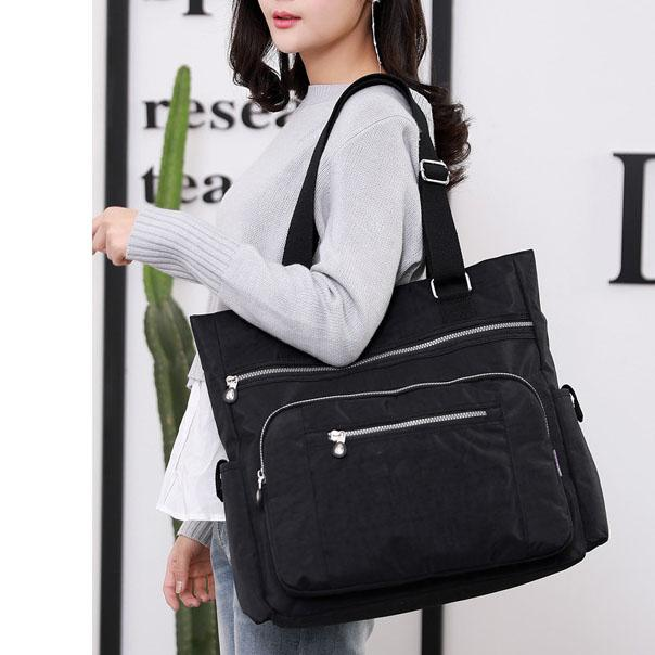 Women's Casual Nylon Large Capacity Waterproof Handbag Shoulder Bag