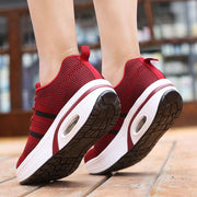 Women Comfy Soft Breathable Mesh Lace Up Shake Shoes