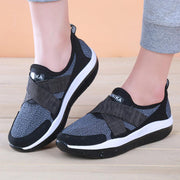 Elastic Band Slip On Rocker Sole Platform Comfortable Mesh Shoes
