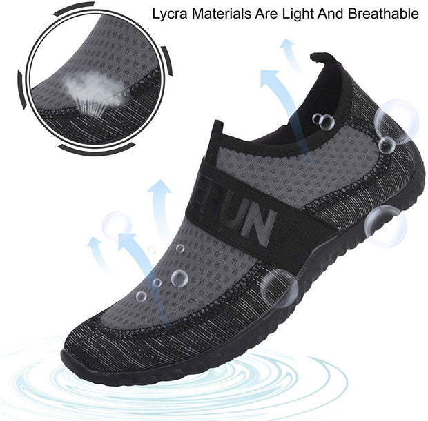 Womens Mens Water Sports Shoes Outdoor Quick Dry Barefoot Athletic Aqua Shoe for Beach Swim Pool Surf Diving Yoga
