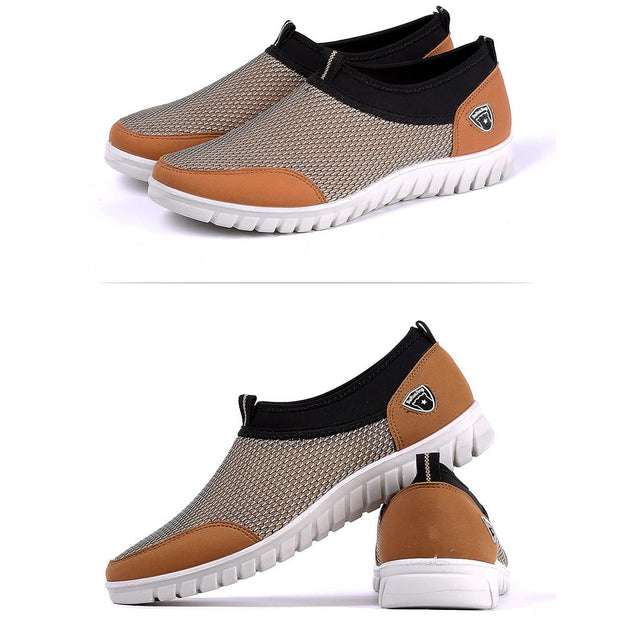 Men's lightweight soft bottom comfortable net shoes men's casual shoes mesh breathable shoes