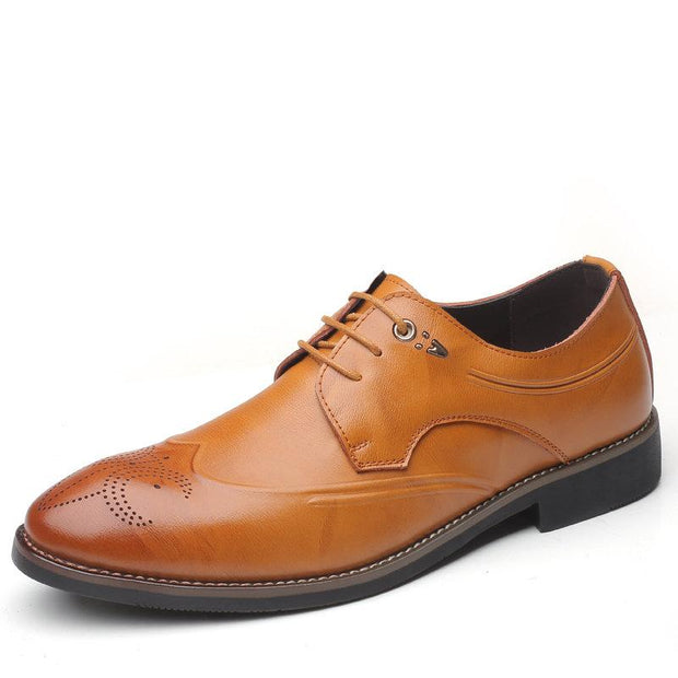 Men Brogue Carved Stylish Oxfords Lace Up Business Formal Shoes