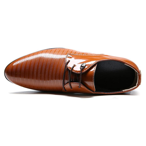 Large Size Men Pure Color Leather Business Formal Dress Shoes
