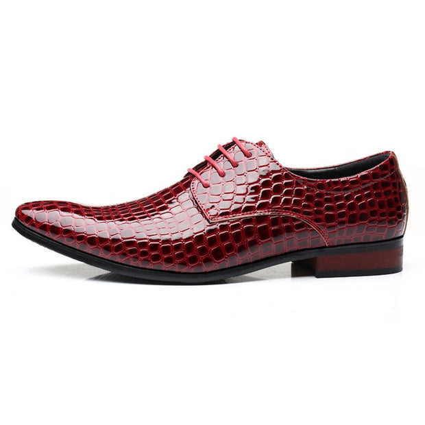 Men Large Size Stylish Leather Slip Resistant Business Formal Shoes