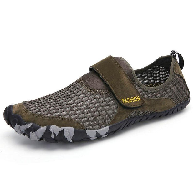 Men Mesh Quick Dry Non-Slip Hook Loop Boating Upstream Water Shoes