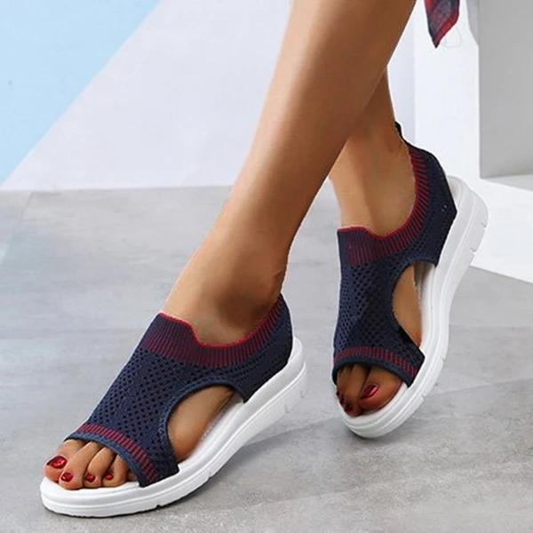 Women Summer Large Size Mesh Fabric Casual Sandals