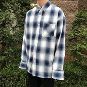 Men's Fashion Large Plaid Loose Casual Shirt