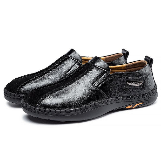 Men Hand Stitching Soft Slip On Non Slip Casual Driving Loafers