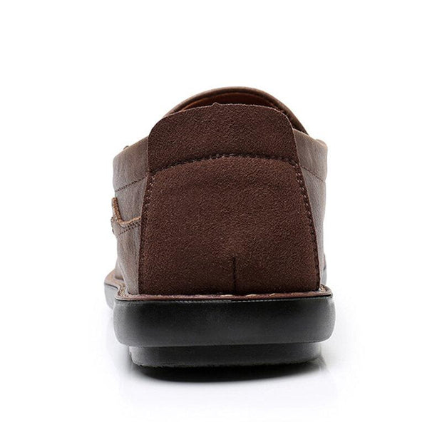 Men Pure Color Microfiber Leather Non Slip Soft Sole Casual Shoes