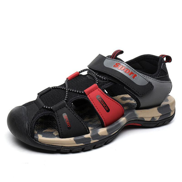 Men's sandals soft soled toe outdoor river shoes sandals