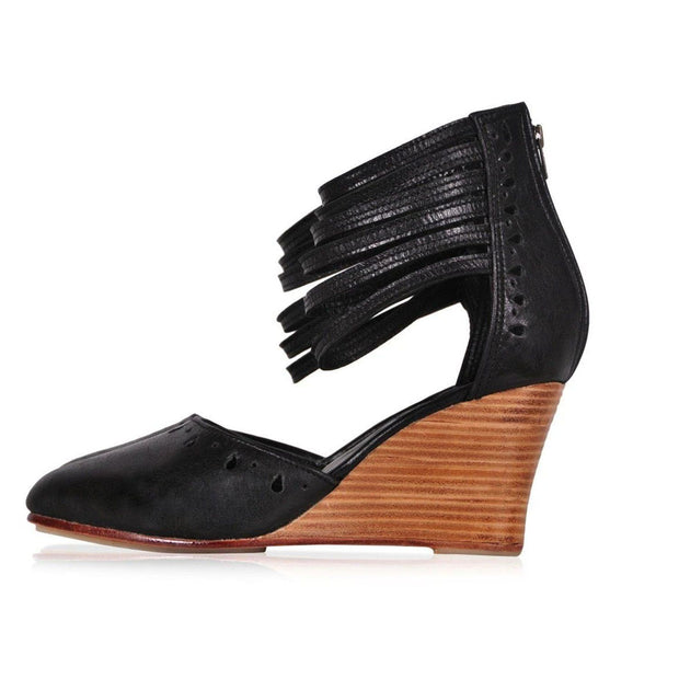 Women's handmade Leather Wedges