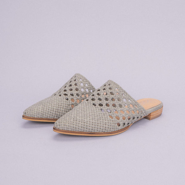 Women's  Basket Weave Pointed Mules