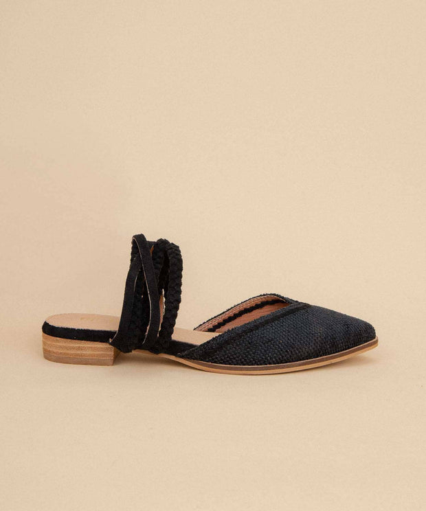 Women's Pointed Canvas Mules