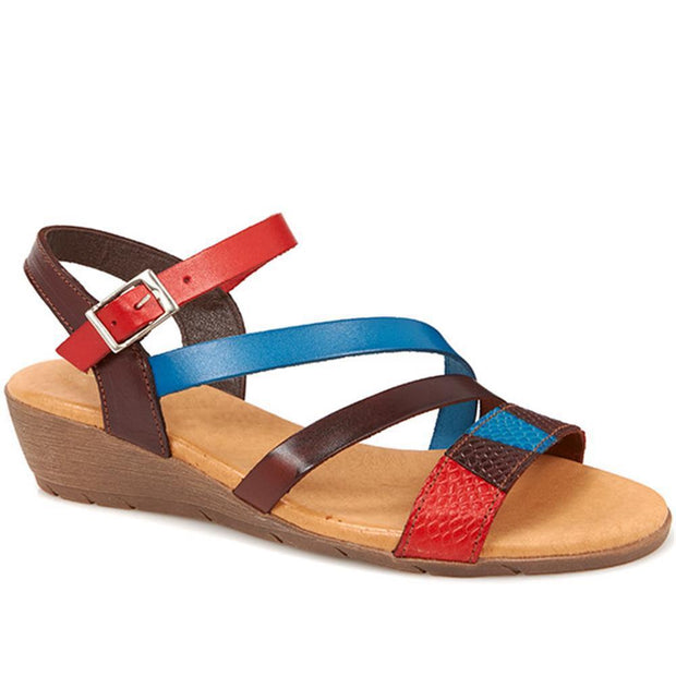 Women's Leather Multi Coloured Slingback