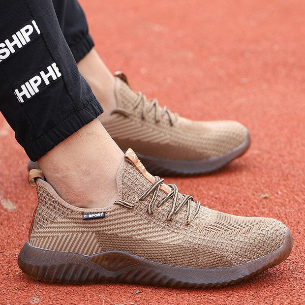 Men's Knitted Non Slip Working Casual Safety Shoes