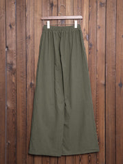 Women Plus Size Pockets Linen Plain Bottoms