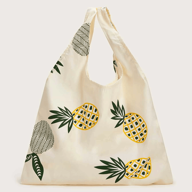 Women's Pineapple Graphic Large Capacity Tote Bag