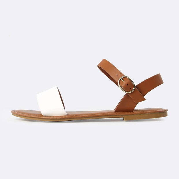 Women's Two Tone PU Open Toe Sandals