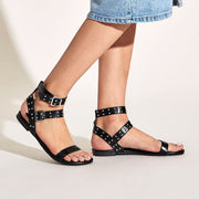 Women's Studded Decor Ankle Strap Sandals