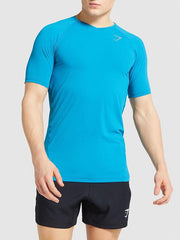 Mens Quick Drying Tops Sport Gym Muscle Shirt Training Clothes