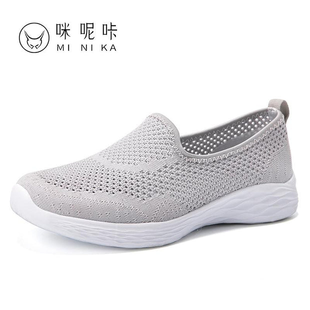 Women's spring and summer new breathable flat walking shoes
