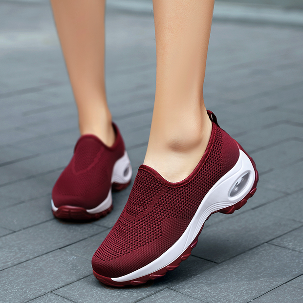 Women's Athletic Flyknit Sneakers Casual Outdoor Shoes
