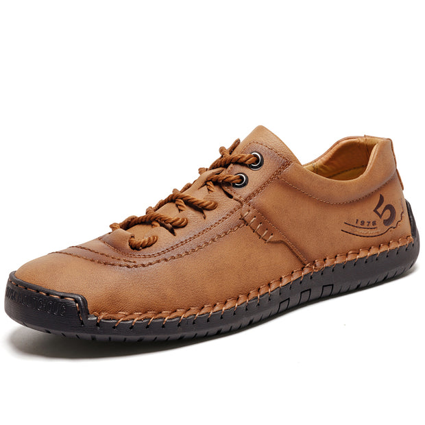 Men's Hand-stitched Cow Leather Vintage Outdoor Casual Shoes