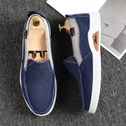 Men's Canvas Slip-On Soft Sole Casual Driving Shoes