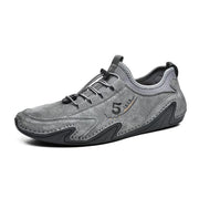 Men Fashion Hand Stitching Leather Soft Casual Driving Shoes