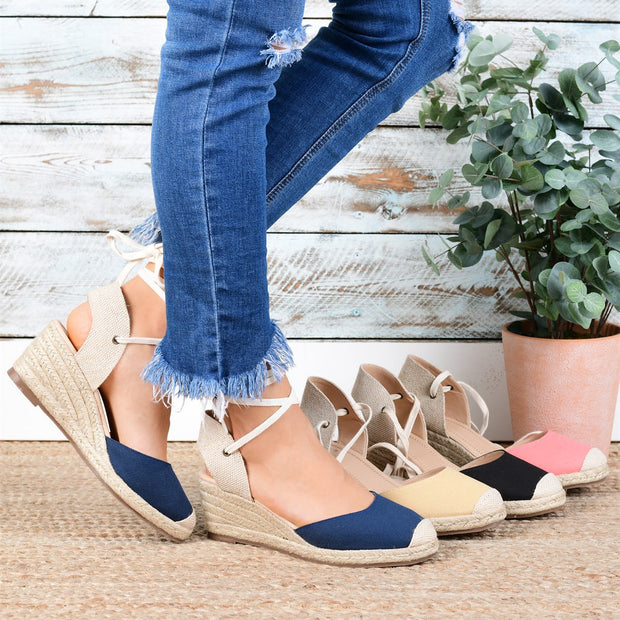Women's  Canvas Strap High-Heeled Sandals
