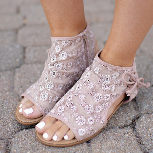 Women's Open-toed Floral Sandals
