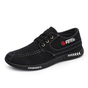 Men's Summer Retro Black Canvas Shoes