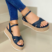 Women's Waterproof Platform Sponge Cake Thick Bottom High Heel Sandals