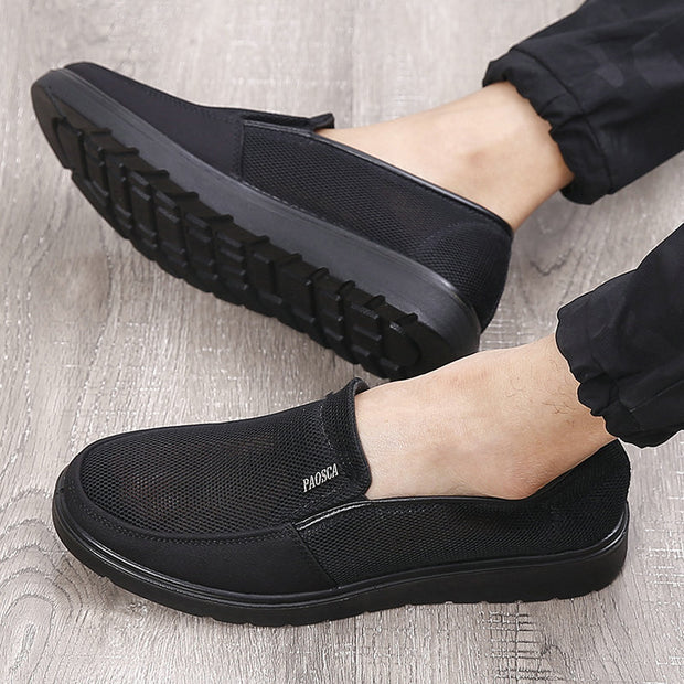 Men's Mesh Splicing Soft Sole No Slip Casual Shoes