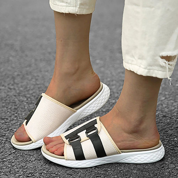 Women's Open Toe Slip On Casual Summer Daily Flat Sandals