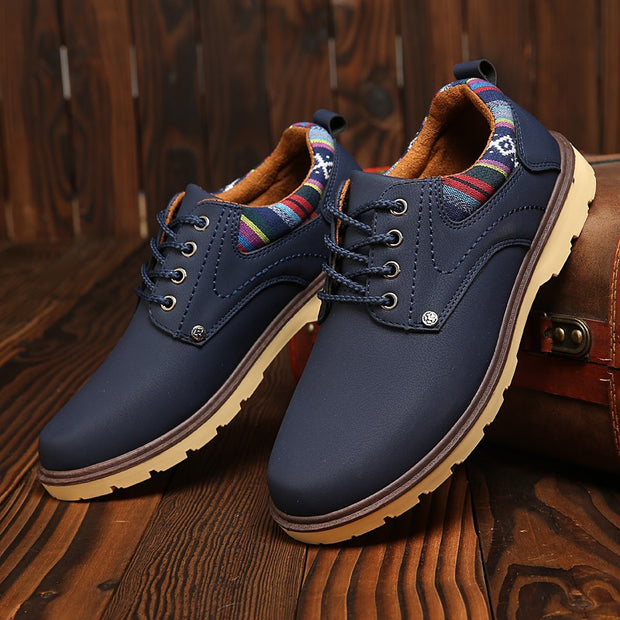 Men's new business shoes leather hollow breathable