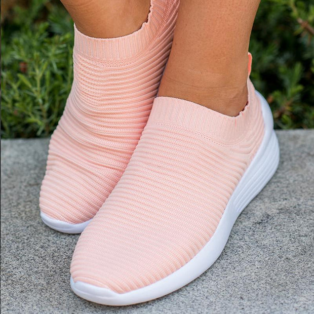 Women Fabric Strenchy Comfort Casual Sneakers