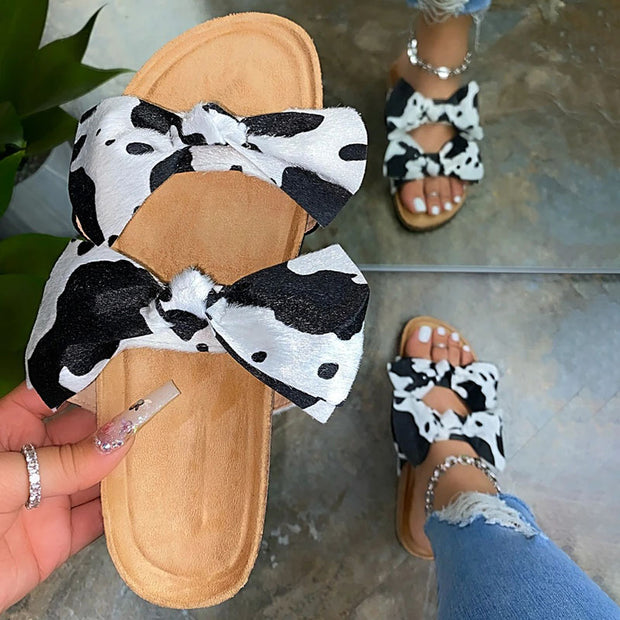 Women's Chic Bow-tie Slip On Slippers