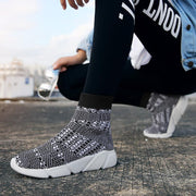 Women's Flying Woven High-Top Socks Shoes