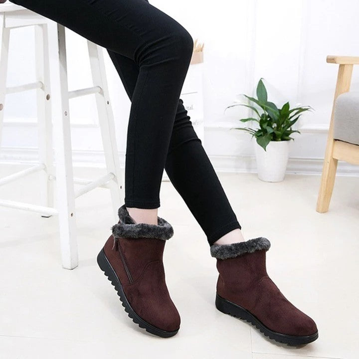 Women's waterproof  snow  warm shoes