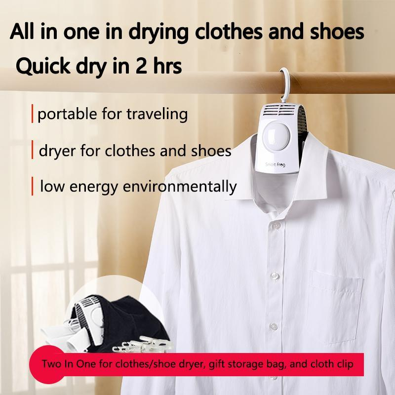Portable electric heated clothes dryer rack folding hanger, hot and cold air optional. Quick dry clothes and shoes into 2 hrs