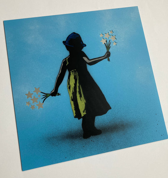 Flower Girl - Mirror (Blue)
