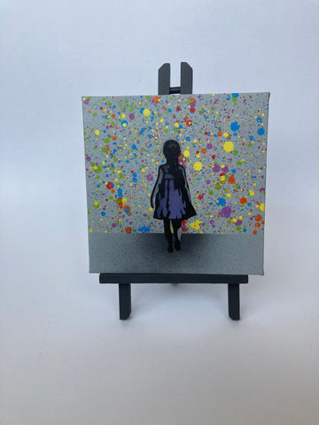 Walk on By mini Canvas/Easel