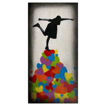 Love is a balancing act - Rainbow Heart Canvas