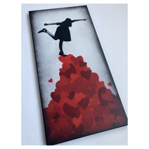 Love is a balancing act - Canvas
