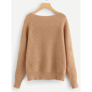 Boat Neck Solid Jumper