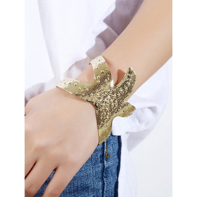 Starfish Shaped Statement Cuff Bracelet